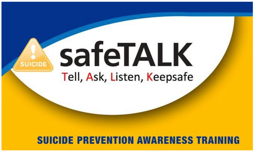 safe talk certified, suicide prevention, awareness
