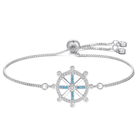 Nautical Women Bracelet With Cubic Zirconia