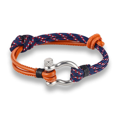 Survival Bracelet with Stainless Steel Shackle Buckle