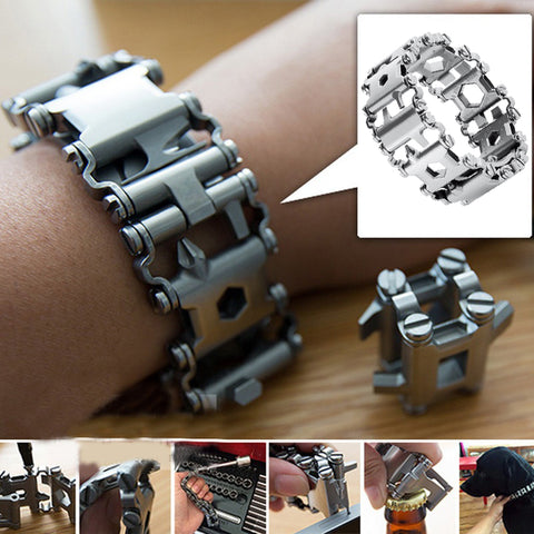 Multi-functional Steel Bracelet 29 in 1 tools