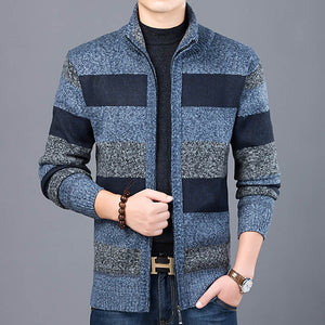 2019 Thick New Fashion Brand Sweater For Mens Cardigan Slim Fit Jumpers Knitwear Warm Autumn Korean Style Casual Clothing Male - 350 Graphic Design