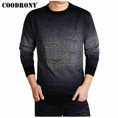 COODRONY Cashmere Sweater Men Brand Clothing Mens Sweaters Print Casual Shirt Autumn Wool Pullover Men O-Neck Pull Homme Top 613 - 350 Graphic Design