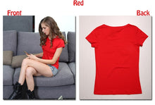 Load image into Gallery viewer, High Quality 18 Color S-3XL Plain T Shirt Women Cotton Elastic Basic T-shirts Female Casual Tops Short Sleeve T-shirt Women 002 - 350 Graphic Design