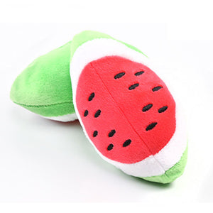 Stuffed Toy Squeaker Squeaky Plush Sound Fruits Vegetables watermelon stars Feeding Carrot Banana - 350 Graphic Design