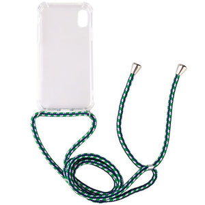 Transparent TPU Cell Phone Case with Lanyard Necklace Adjustable Strap Rope Cord for iphone 5 6 7 8 plus x xs xr xs max and 2019 - 350 Graphic Design