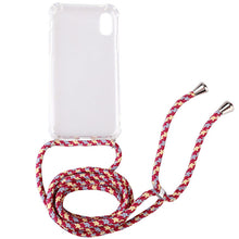 Load image into Gallery viewer, Transparent TPU Cell Phone Case with Lanyard Necklace Adjustable Strap Rope Cord for iphone 5 6 7 8 plus x xs xr xs max and 2019 - 350 Graphic Design
