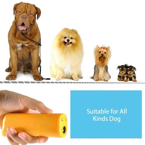 Pet Dog Repeller Anti Barking Stop Bark Training Device Trainer LED Ultrasonic 3 in 1 Anti Barking Ultrasonic Without Battery - 350 Graphic Design