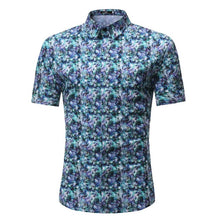 Load image into Gallery viewer, Men Shirt Summer Style Palm Tree Print Beach Hawaiian Shirt Men Casual Short Sleeve Hawaii Shirt Chemise Homme Asian Size 3XL - 350 Graphic Design