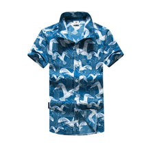 Load image into Gallery viewer, Mens Hawaiian Shirt Male Casual camisa masculina  Printed Beach Shirts Short Sleeve brand clothing Free Shipping Asian Size 5XL - 350 Graphic Design