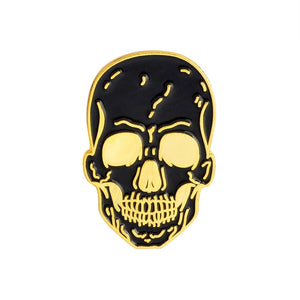 Happy Halloween !  Party Gift Punk Gothic Dark Skeleton Skull Collection Coffin Zombie Mummy Rib Enamel Brooches Pins - 350 Graphic Design
