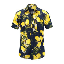 Load image into Gallery viewer, Plus Size 5XL 2019 New Summer Mens Short Sleeve Hawaiian Shirts Cotton Casual Floral Shirts Wave Regular Mens Clothing Fashion - 350 Graphic Design