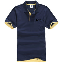 Load image into Gallery viewer, New men's polo shirts high-quality cotton short-sleeved shirts breathable solid polo shirts summer casual business men's wear - 350 Graphic Design