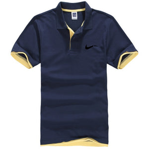 New men's polo shirts high-quality cotton short-sleeved shirts breathable solid polo shirts summer casual business men's wear - 350 Graphic Design