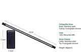 A single reusable collapsible metal straw