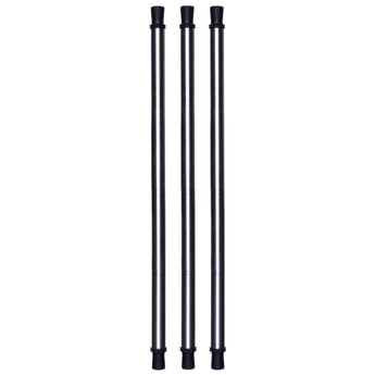 Three reusable collapsible metal straws