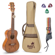Load image into Gallery viewer, HM-127SM+ Deluxe Spalted Maple Tenor Ukulele Bundle with Aquila Strings, Padded Gig Bag, Strap and Picks - Limited Edition