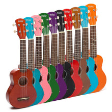 Load image into Gallery viewer, HM-21OR Soprano Ukulele Bundle with Canvas Tote Bag, Strap and Picks, Color Series - Orange