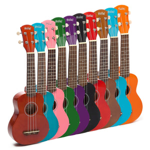 HM-21MG Soprano Ukulele Bundle with Canvas Tote Bag, Strap and Picks, Color Series - Mahogany