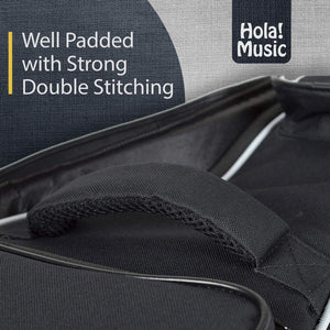 Electric Guitar Gig Bag by Hola! Music, Deluxe Series with 15mm Padding, Black