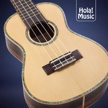 "Load image into Gallery viewer, Professional Concert Ukulele Model HM-424SSR+, Includes: 24"" SOLID Spruce Top Ukulele with Aquila Nylgut Strings Installed, Padded Bag, Strap & Picks"