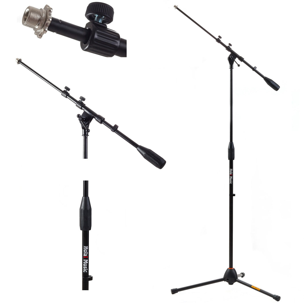 HPS-101TB Professional Tripod Microphone Stand with Telescopic Boom, Black
