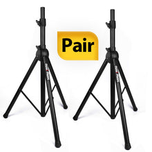 Load image into Gallery viewer, PAIR of PA Speaker Stands, Professional Heavy-Duty Tripod Structure, 4-6ft Adjustable Height, Model HPS-500PA