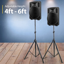 Load image into Gallery viewer, PA Speaker Stand, Professional Tripod Structure, 4-6ft Adjustable Height, Model HPS-200S