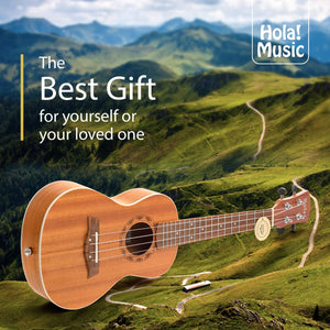 "Mahogany Concert Ukulele Bundle, Model HM-124MG+, Includes: 24"" Ukulele with Aquila Nylgut Strings Installed, Clip-on Tuner, Padded Bag, Strap & Picks"
