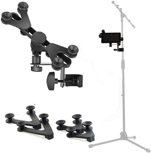 HM-MTH Microphone Music Stand Tablet / Smartphone Holder Mount - Fits Devices from 6 to 15 Inch