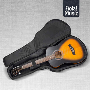 Acoustic and Classical Guitars Gig Bag 3/4 Size (36 inch), Deluxe Series with 15mm Padding, Black