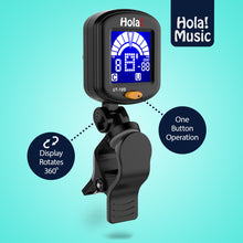 Load image into Gallery viewer, Clip-on Ukulele Tuner UT-100 by Hola! Music with Chromatic Tuning Mode