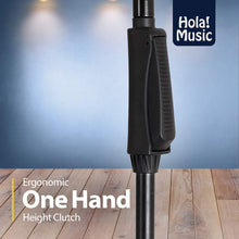 Load image into Gallery viewer, Hola! Music HPS-150TB Professional Tripod Microphone Stand with One-Hand Height Clutch and Telescopic Boom, Black