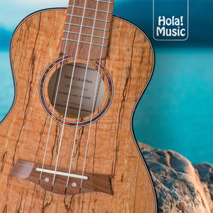 HM-127SM+ Deluxe Spalted Maple Tenor Ukulele Bundle with Aquila Strings, Padded Gig Bag, Strap and Picks - Limited Edition