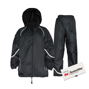 Salzmann Reflective Rainsuit, Waterproof and Weatherproof Rain Suit, Made with 3M Scotchlite