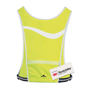 Salzmann 3M Reflective High Visibility Sports Vest with adjustable waist strap, 3M Scotchlite, yellow