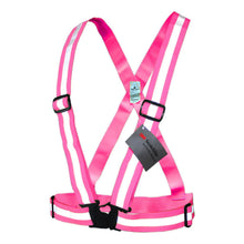 Load image into Gallery viewer, Salzmann 3M Reflective Vest, High Visibility Cross Belt with Adjustable Straps, Made with 3M Scotchlite, Yellow and Pink