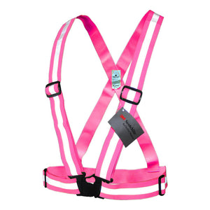 Salzmann 3M Reflective Vest, High Visibility Cross Belt with Adjustable Straps, Made with 3M Scotchlite, Yellow and Pink