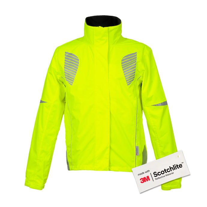 Salzmann 3M Cycling Jacket, Reflective Hi Vis, Hi Viz, High Visibility jacket, Coat, women, men, yellow, 3M Scotchlite