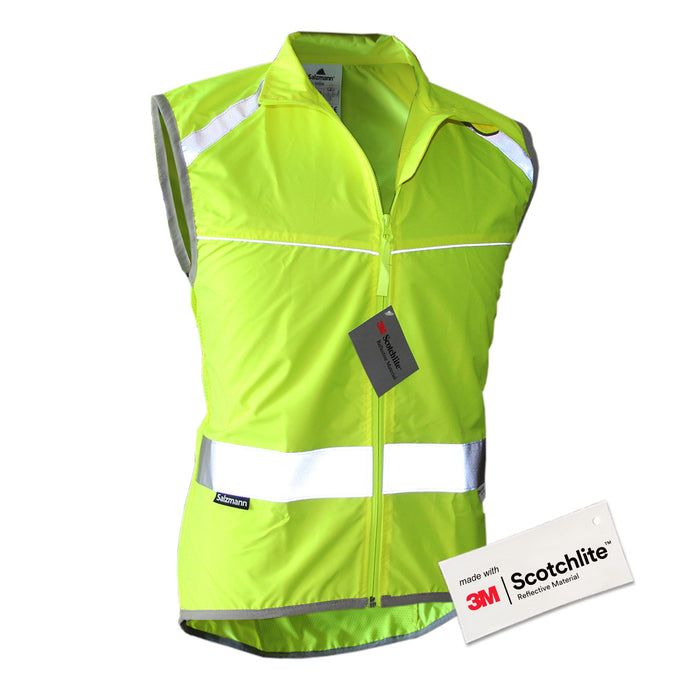 Salzmann High Visibility Reflective Vest for Cycling and Running, made with 3M Scotchlite