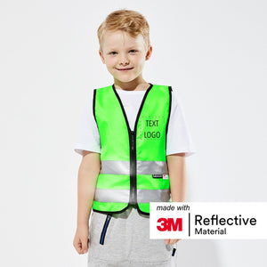 Salzmann 3M Children's Safety Vest, High Vis Vest for Girls, Boys, Kids, Reflective