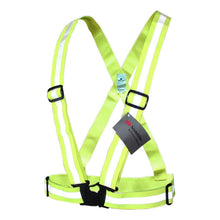 Load image into Gallery viewer, Salzmann 3M Reflective Vest, High Visibility Cross Belt with Adjustable Straps, Made with 3M Scotchlite, Yellow
