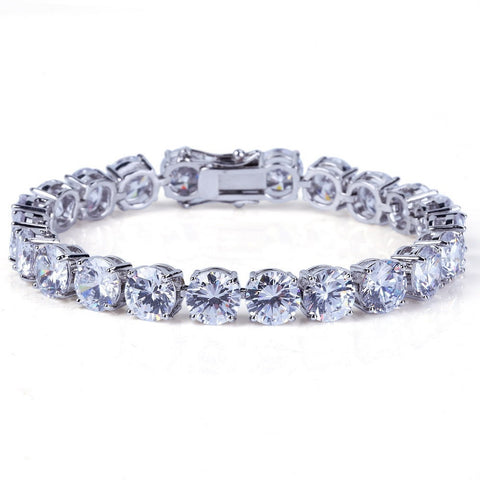 Image of 14K Gold Iced Tennis Bracelet