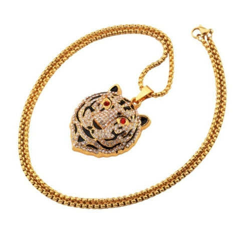 Image of 18K Gold Bengal Tiger Pendant