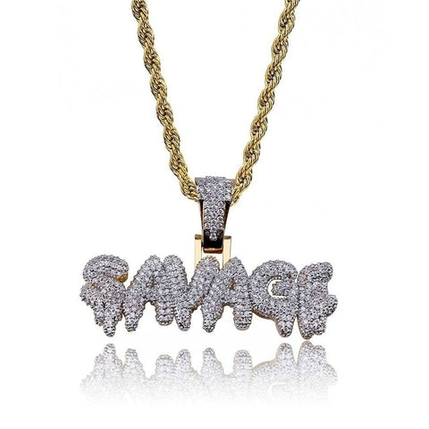 Image of 18K Gold Savage Cubic Pendant