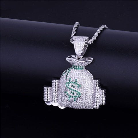 Image of 18K Gold Money Bag Pendant