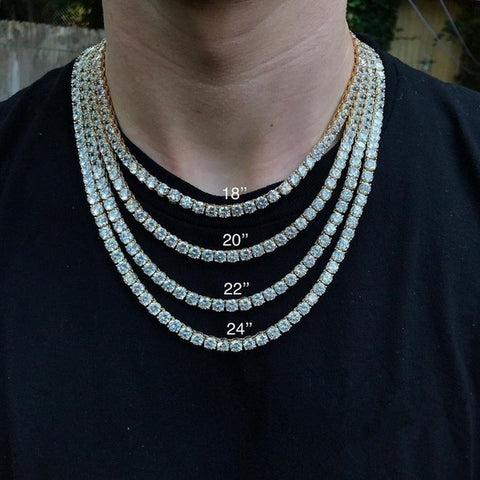 Image of 18K Gold Diamond Tennis Chain Necklace
