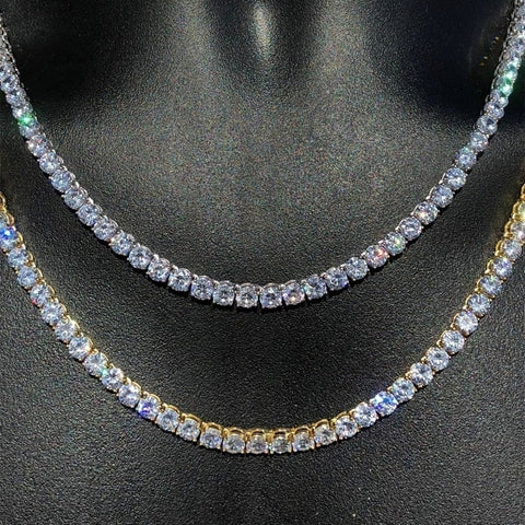 18K Gold Diamond Tennis Chain Necklace