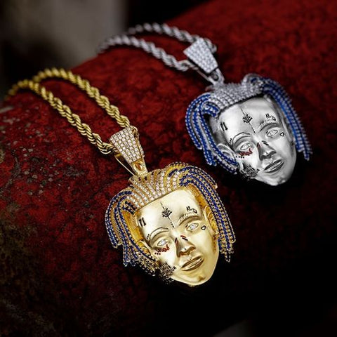 18K Gold XXXTentacion Iced Out Pendant