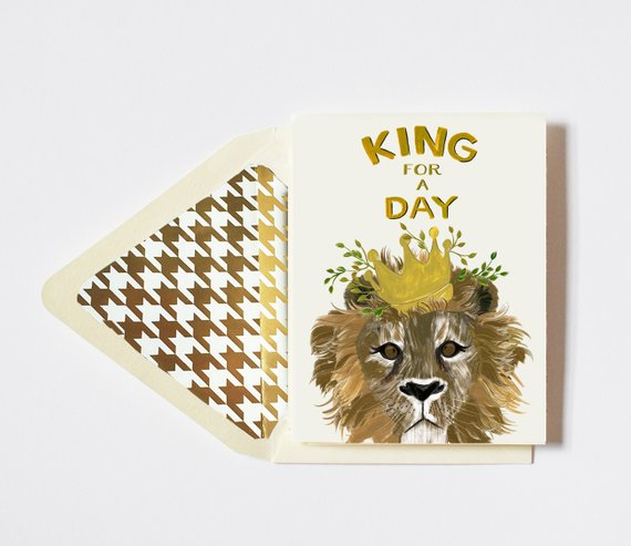 The First Snow - King For A Day Card