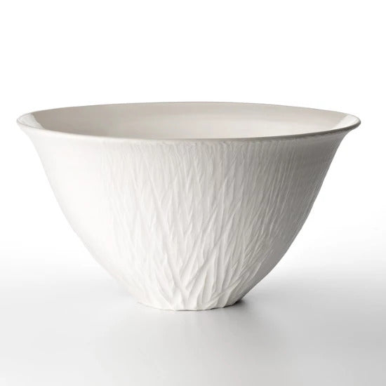 Anemone Ceramic White Salad Bowl | Handmade by Jane Burbidge - CoCo Contemporary Connoisseur Gift Store